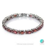 Ofelia - Сребърна гривна с Гранат  s1249-Естествени камъни