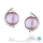 Whitney - Сребърни обеци с Перла 10063-Обеци