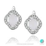 Mishele - Сребърни обеци с Опал и Циркони 888833178-Естествени камъни