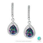 Tiffany - Сребърни обеци с Топаз Мистик и Циркони 580s-Естествени камъни