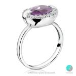 Denise - Сребърен пръстен с Аметист и Цирконий s1627