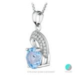 Florence - Сребърна висулка с Топаз и Циркони 888832473v-Естествени камъни