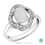 Mishele - Сребърен пръстен с Опал и Циркони 888833194-Естествени камъни