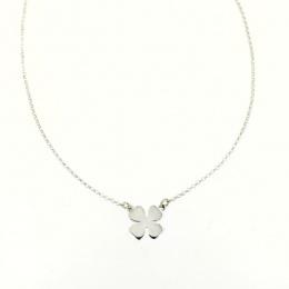 Luck - Сребърно колие без камък 701123-Сребърни бижута