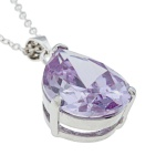 Cosima - Сребърна висулка с Аметист 1381181237-Естествени камъни