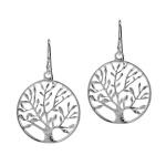 Ilaria - Сребърни обеци - дърво на живота 1700s-Сребърни бижута