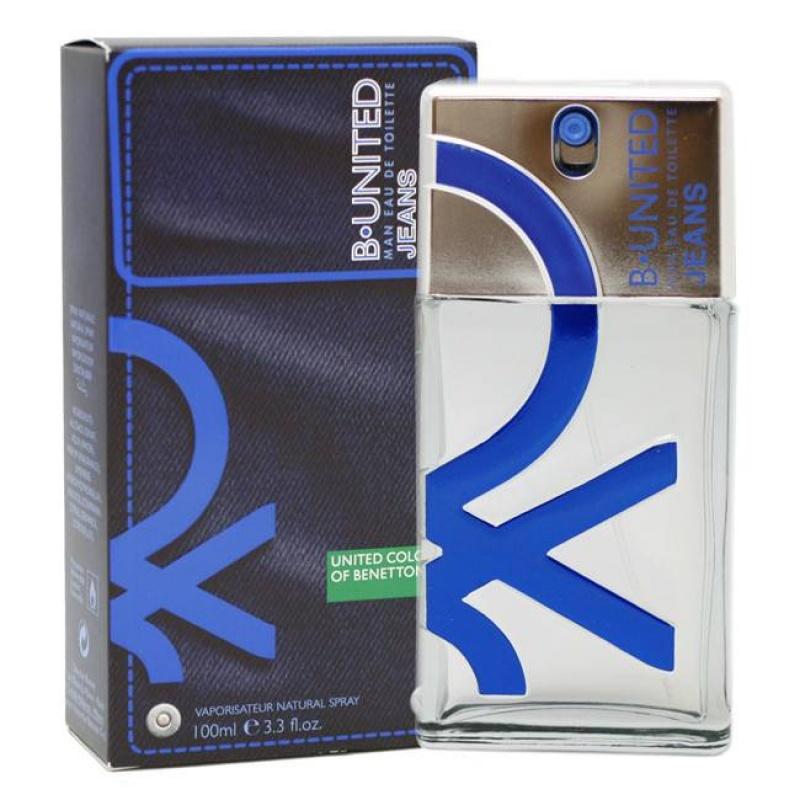 Benetton B United Jeans - Тоалетна вода за мъже EDT 100 мл-Парфюми