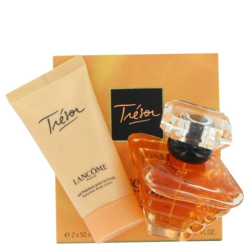 Lancome Tresor - Комплект за жени Парфюмна вода 50 мл + Лосион за тяло 50 мл-Парфюми