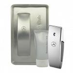 Комплект за мъже Mercedes-Benz Club - Тоалетна вода EDT 100 мл + Душ гел SG 75 мл-Парфюми