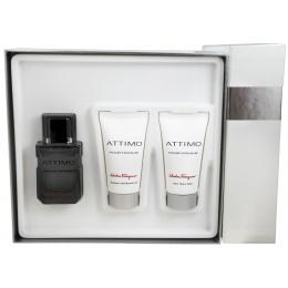 Salvatore Ferragamo Ferragamo Attimo Man - Комплект Тоалетна вода + Душ гел + Афтършейв балсам за мъже EDT + SG + ASB 60 мл + 50 мл + 50 мл-Парфюми