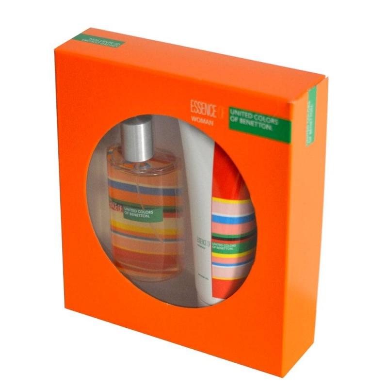 Benetton Essence Of Ucb комплект Тоалетна вода + Душ гел за жени EDT + SG 100 мл + 200 мл-Парфюми