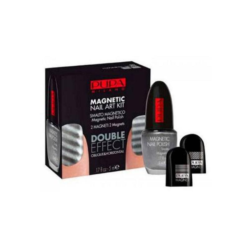 Комплект за декорация на маникюр сребро Pupa Magnetic Nail Art Kit Farbe 030 Magnetic Silver-Козметика