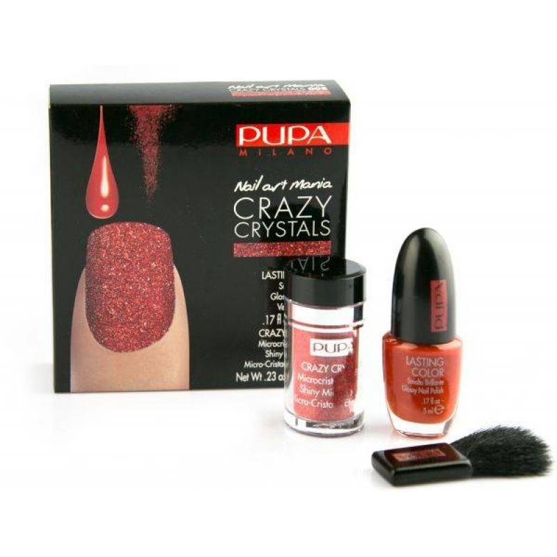 Лак с кристали Pupa Crazy Crystals Nail Art Kit - 008 Urban Red-Козметика