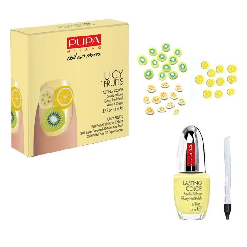 Комплект за маникюр Pupa Juicy Fruits Nail Art Kit 002 Yellow Fruits-Козметика