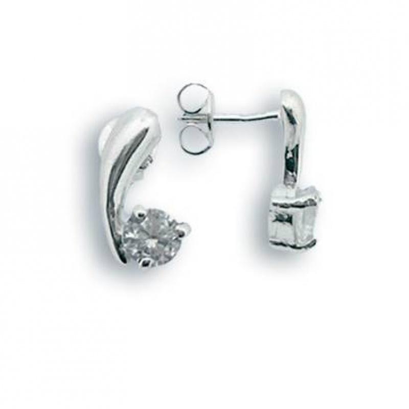 Yvette - Сребърни обеци с Цирконий 114067-Сребърни бижута