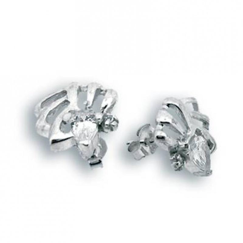 Reyna - Сребърни обеци с Цирконий 114160-Сребърни бижута