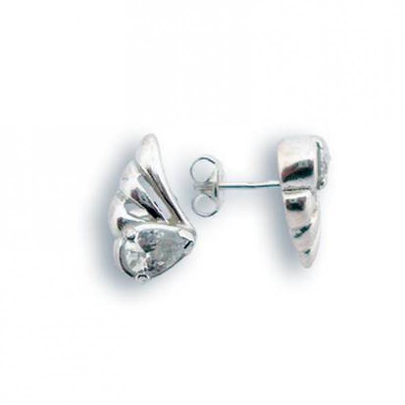 Lauri - Сребърни обеци с Цирконий 114161-Сребърни бижута