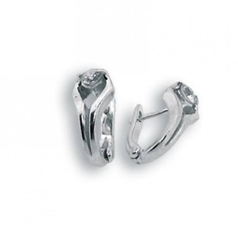 Kaitlin - Сребърни обеци с Цирконий 114170-Сребърни бижута