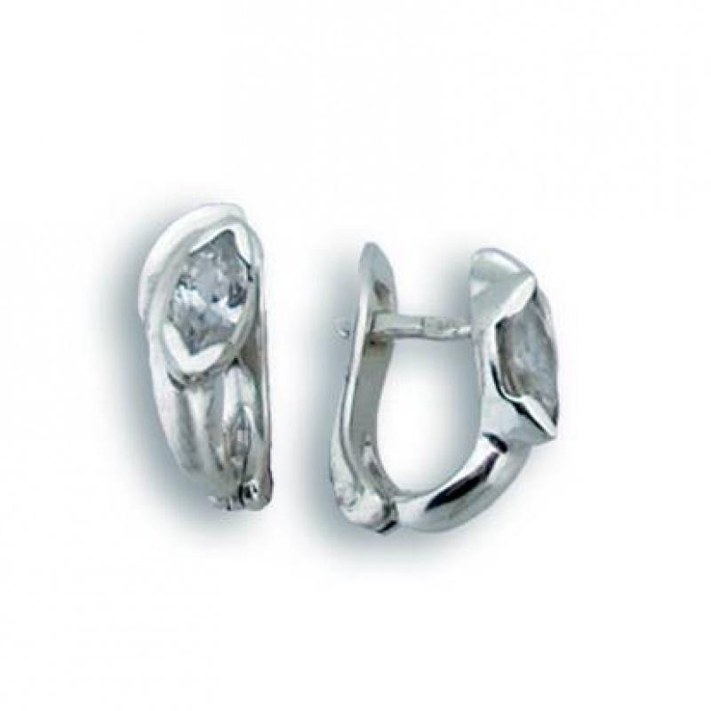 Rowena - Сребърни обеци с Цирконий 114183-Сребърни бижута