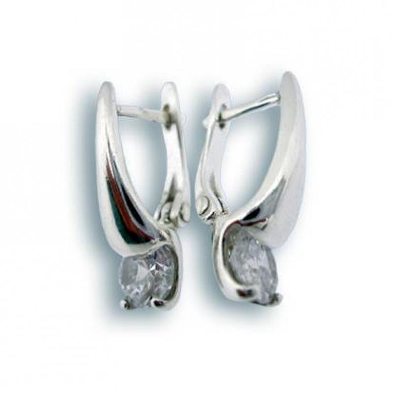 Liz - Сребърни обеци с Цирконий 114188-Сребърни бижута
