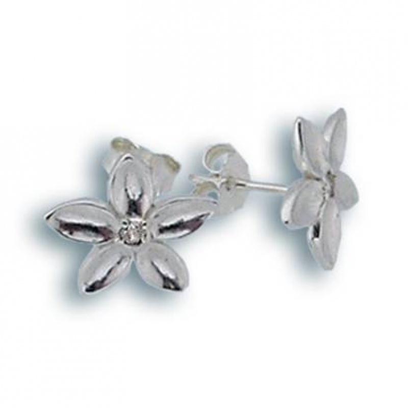 Angelique - Сребърни обеци с Цирконий 114205-Сребърни бижута