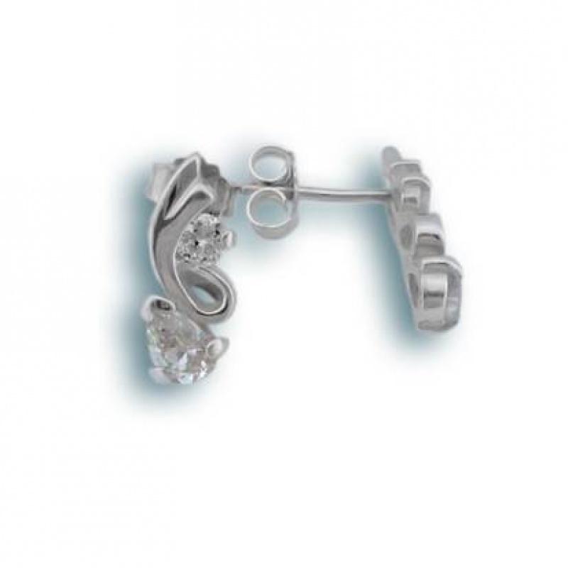 Aurora - Сребърни обеци с Цирконий 114207-Сребърни бижута
