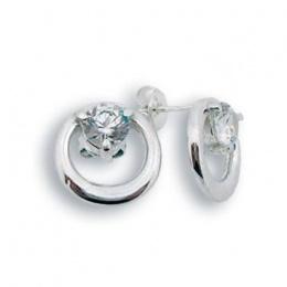 Britney - Сребърни обеци с Цирконий 114276-Сребърни бижута