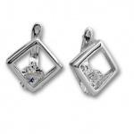 Colette - Сребърни обеци с Цирконий 121478-Сребърни бижута