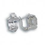 Dakota - Сребърни обеци с Цирконий 121750-Сребърни бижута