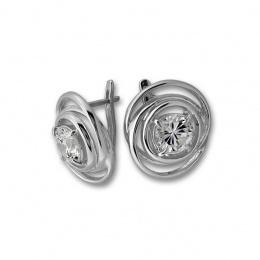 Bridget - Сребърни обеци с Цирконий 130916-Сребърни бижута