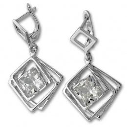 Janice - Сребърни обеци с Цирконий 130917-Сребърни бижута