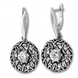 Trinity - Сребърни обеци с Цирконий 130928-Сребърни бижута