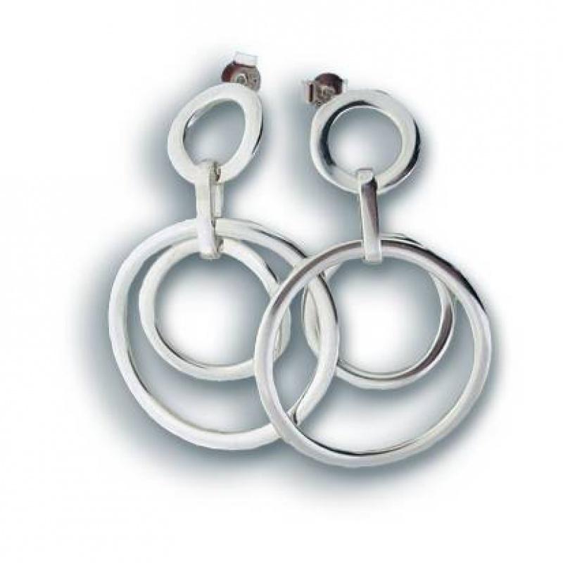 Severine - Сребърни обеци без Камък 131201-Сребърни бижута