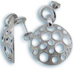 Ksenia - Сребърни обеци без Камък 131793-Сребърни бижута