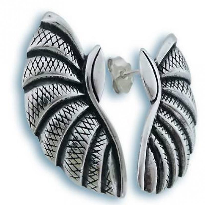 Dalia - Сребърни обеци без Камък 131795-Сребърни бижута