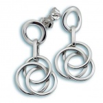 Amelie - Сребърни обеци без Камък 131809-Сребърни бижута