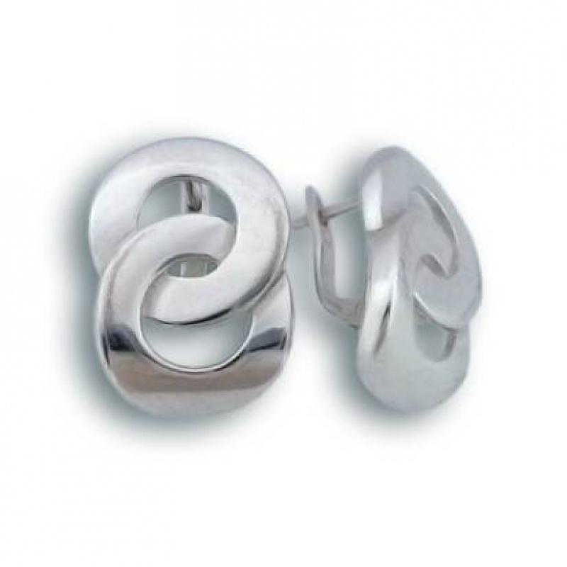 Lexie - Сребърни обеци без Камък 136760-Сребърни бижута