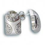 Angelina - Сребърни обеци с Цирконий 137555-Сребърни бижута