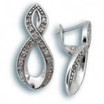 Rosemarie - Сребърни обеци с Цирконий 137755-Сребърни бижута