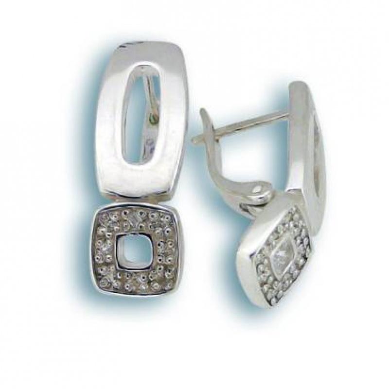 Marion - Сребърни обеци с Цирконий 137765-Сребърни бижута