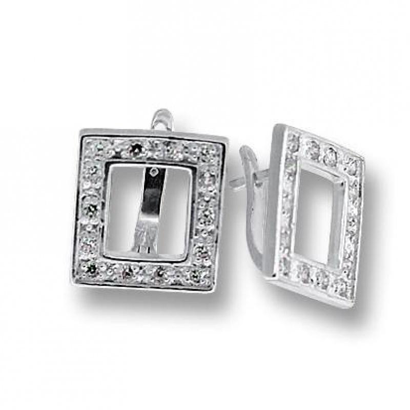 Elvira - Сребърни обеци с Цирконий 137855-Сребърни бижута