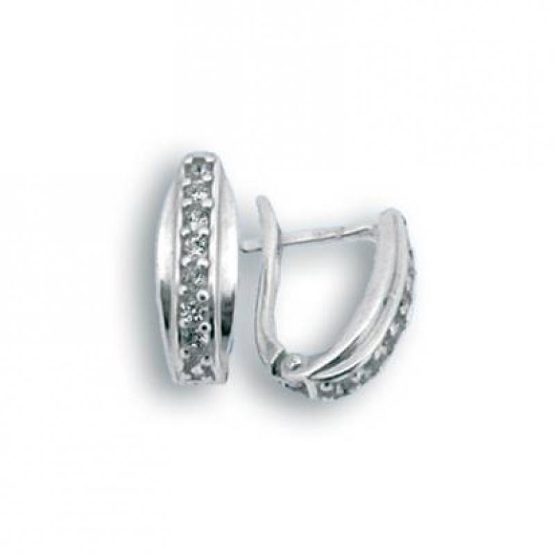Laverne - Сребърни обеци с Цирконий 138024-Сребърни бижута