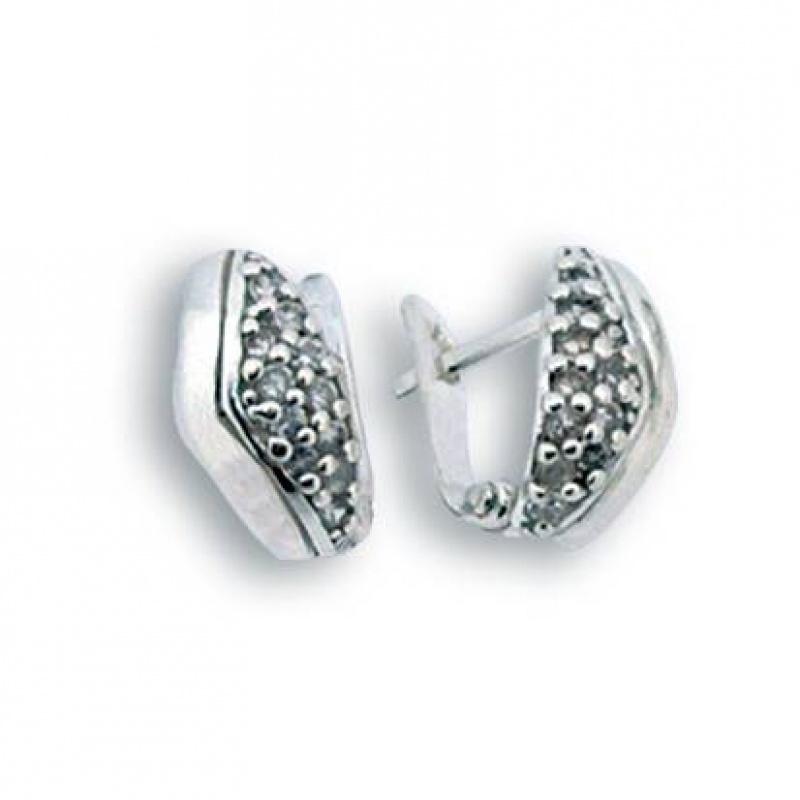Ora - Сребърни обеци с Цирконий 138031-Сребърни бижута