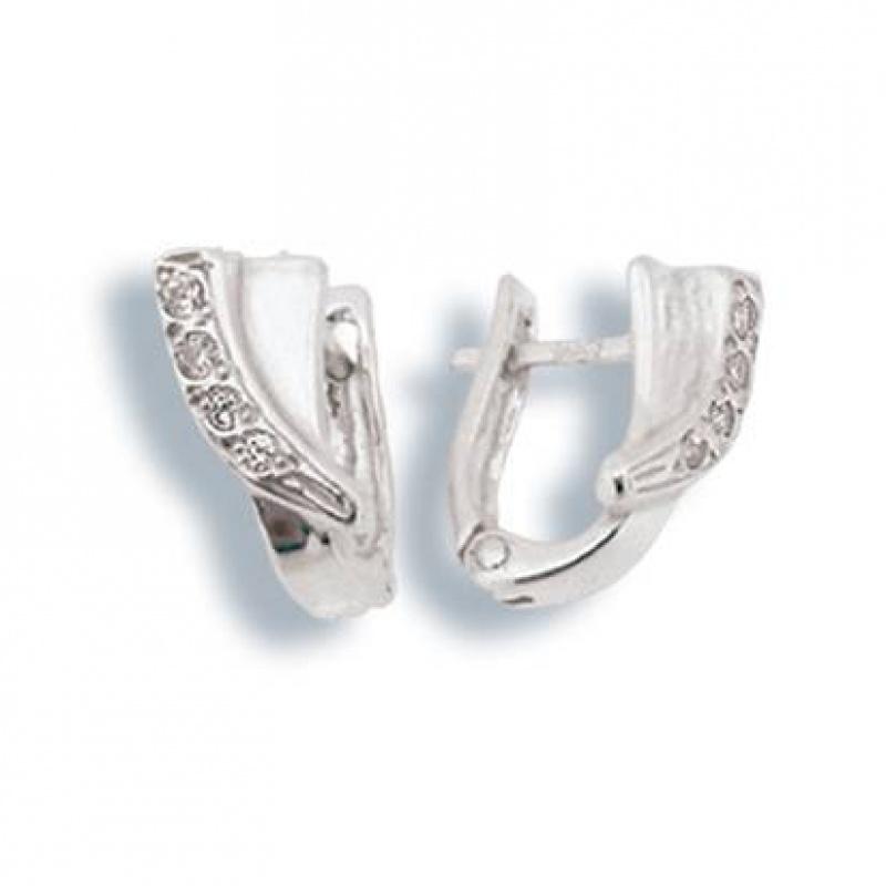 Trina - Сребърни обеци с Цирконий 138032-Сребърни бижута
