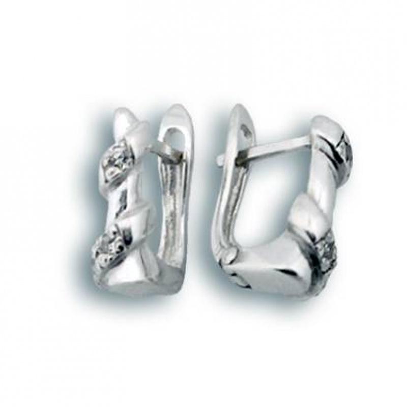 Lenora - Сребърни обеци с Цирконий 138041-Сребърни бижута