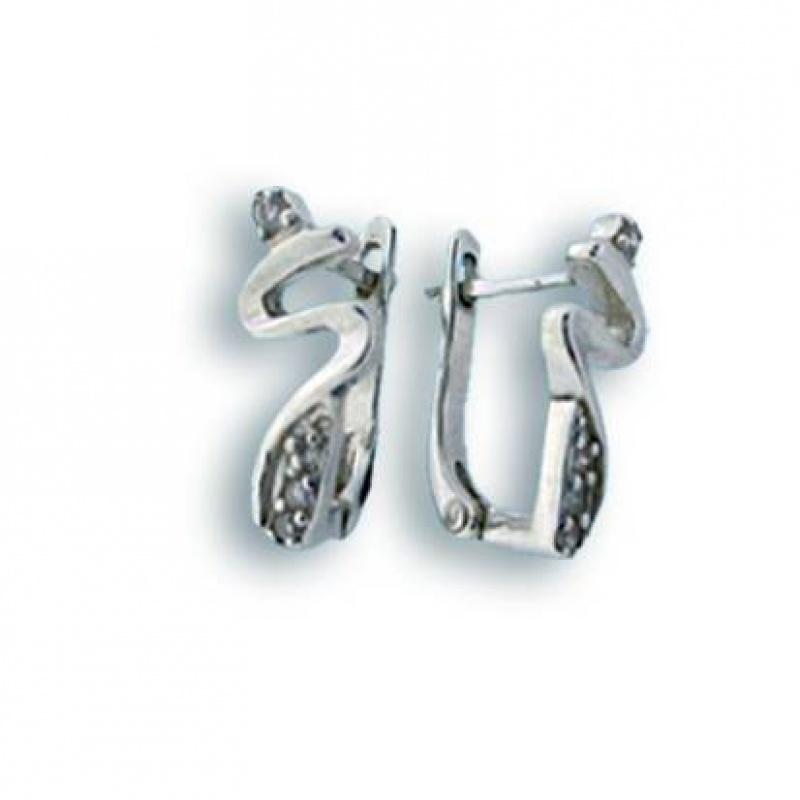 Eugenia - Сребърни обеци с Цирконий 138413-Сребърни бижута