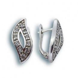 Roxanne - Сребърни обеци с Цирконий 138627-Сребърни бижута