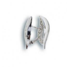 Brittney - Сребърни обеци с Цирконий 138736-Сребърни бижута