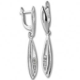 Lana - Сребърни обеци с Цирконий 138936-Сребърни бижута