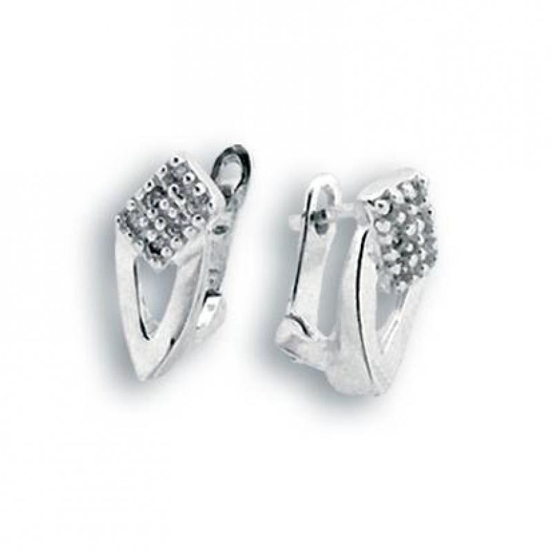 Tabitha - Сребърни обеци с Цирконий 138976-Сребърни бижута